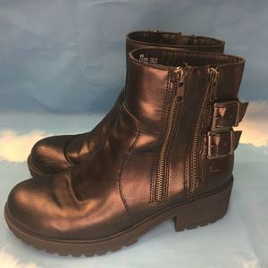 BORN BOC Sparkle Brown Double Buckle Rare Boots